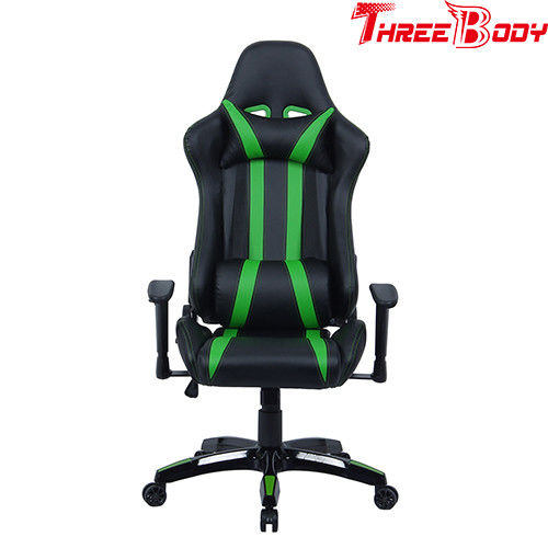Commercial Seat Gaming Chair With Adjustable Neckrest And Lumbar Support
