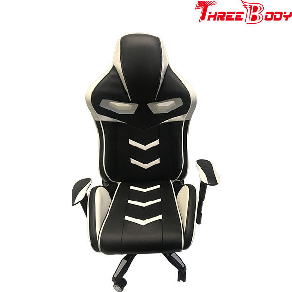 Commercial Black And White Gaming Chair , Light Weight Racing Seat Desk Chair